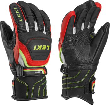Gloves LEKI WORLDCUP RACE FLEX S JUNIOR RED - 2018/19